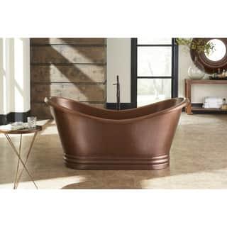 Sinkology Euclid Freestanding Bathtub 6-foot Handmade Antique Copper Bathtub w/Overflow|https://ak1.ostkcdn.com/images/products/10561383/P17639470.jpg?impolicy=medium