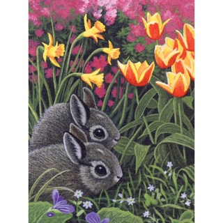 Junior Small Paint By Number Kit 8.75inX11.75inSpring Bunnies