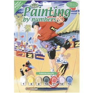Junior Small Paint By Number Kit 8.75inX11.75inSkateboarder