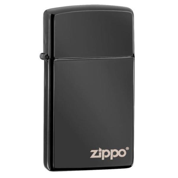 Zippo Ebony Logo Lighter