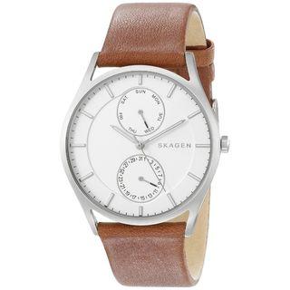 Skagen Men's SKW6176 'Holst' Multi-Function Brown Leather Watch
