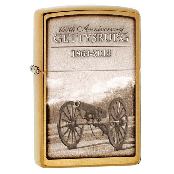 Zippo Gettysburg 150th Anniversary Brushed Brass Lighter