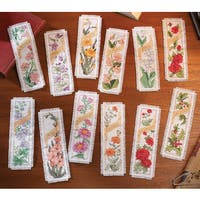 Flowers Of The Month Bookmarks Counted Cross Stitch Kit2.25inX7.75in 14 Count Set Of 12