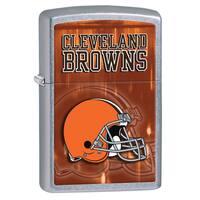 Zippo NFL Cleveland Browns Street Chrome Windproof Lighter