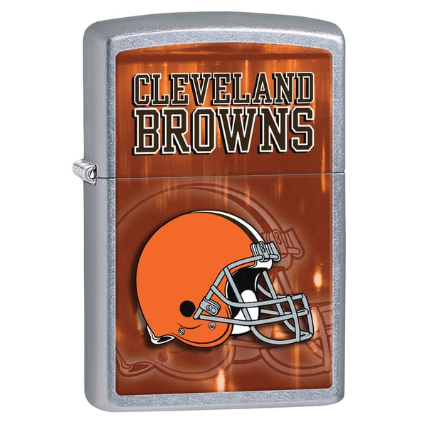 Zippo NFL Cleveland Browns Street Chrome Windproof Lighter