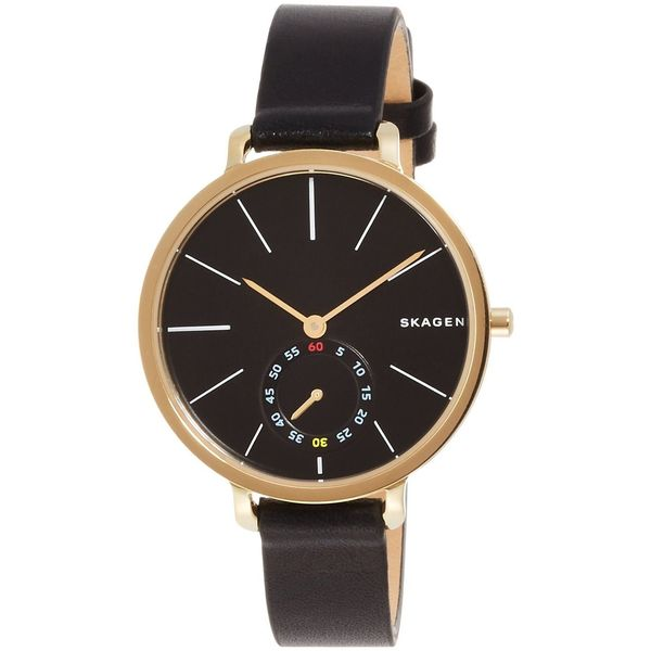 Skagen Women's SKW2354 'Hagen' Black Leather Watch