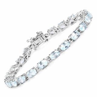 Olivia Leone Sterling Silver 10 3/4ct Blue Topaz Bracelet