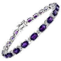 Olivia Leone Sterling Silver 9 1/2ct Amethyst Bracelet