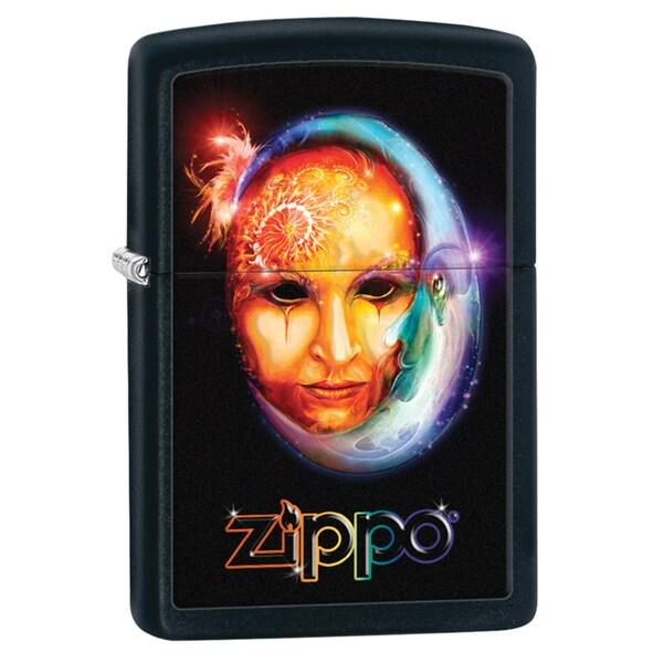 Zippo Venetian Mask Black Matte Windproof Lighter