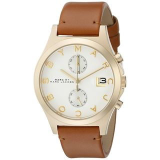 Marc Jacobs Women's MBM1396 'The Slim' Chronograph Brown Leather Watch