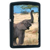 Zippo Elephant Black Matte Windproof Lighter