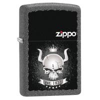 Zippo Skull Crown Iron Stone Windproof Lighter