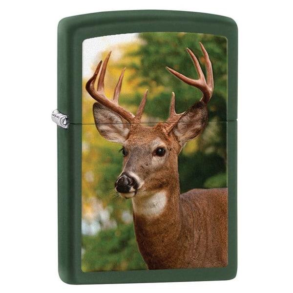 Zippo Buck Green Matte Lighter