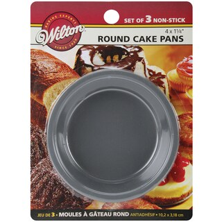 Mini Cake Pans 3/PkgRound 4inX1.25in