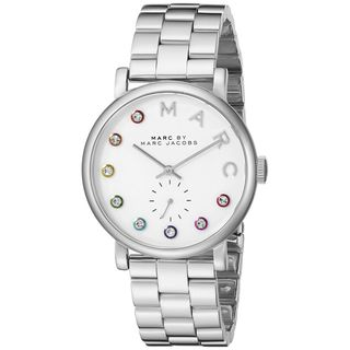 Marc Jacobs Women's MBM3420 'Baker' Crystal Stainless Steel Watch