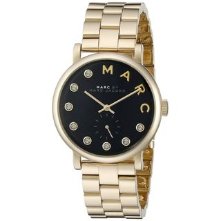 Marc Jacobs Women's MBM3421 'Baker' Crystal Gold-Tone Stainless Steel Watch