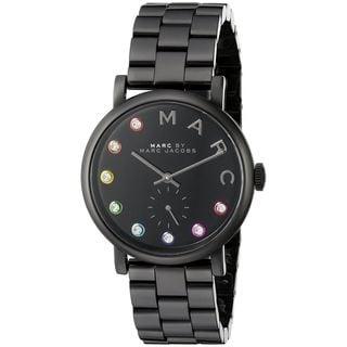 Marc Jacobs Women's MBM3422 'Baker' Crystal Black Stainless Steel Watch