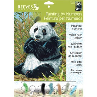 Junior Paint By Number Kit 9inX12inPanda