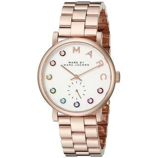 Marc Jacobs Women's MBM3441 'Baker' Crystal Rose-Tone Stainless Steel Watch|https://ak1.ostkcdn.com/images/products/10561638/P17639724.jpg?impolicy=medium