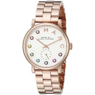 Marc Jacobs Women's MBM3441 'Baker' Crystal Rose-Tone Stainless Steel Watch