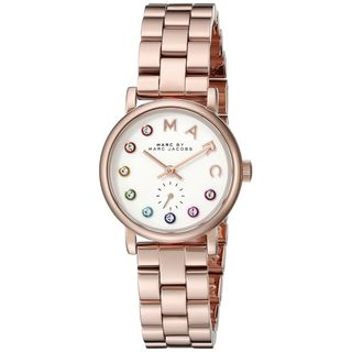 Marc Jacobs Women's MBM3443 'Baker' Crystal Rose-Tone Stainless Steel Watch