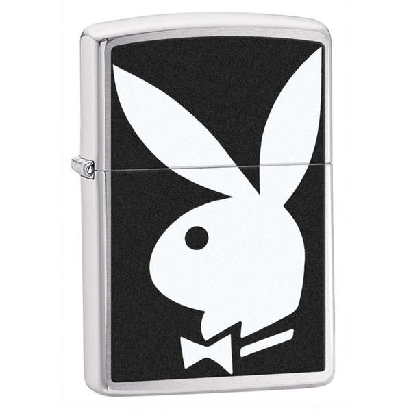Zippo Playboy Classic Brushed Chrome Lighter