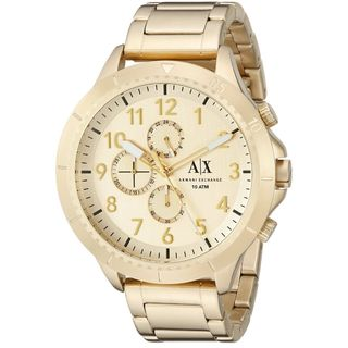 Armani Exchange Men's AX1752 'Romulous' Chronograph Gold-Tone Stainless Steel Watch