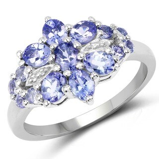 Malaika Sterling Silver 1 1/2ct Tanzanite Ring