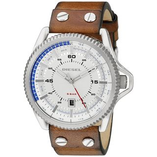 Diesel Men's DZ1715 'Rollcage' Brown Leather Watch