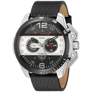 Diesel Men's DZ4361 'Ironside' Chronograph Black Leather Watch