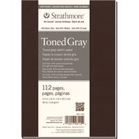 Strathmore Toned Sketch Softcover Journal 5.5inX8inGray 56 Sheets