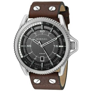 Link to Diesel Men's DZ1716 'Rollcage' Brown Leather Watch Similar Items in Men's Watches