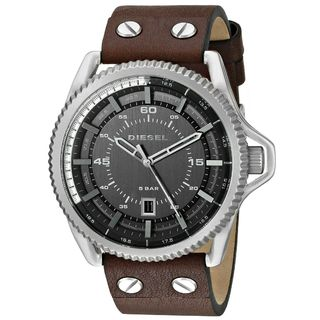 Diesel Men's DZ1716 'Rollcage' Brown Leather Watch