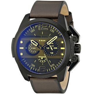 Diesel Men's DZ4364 'Ironside' Chronograph Brown Leather Watch