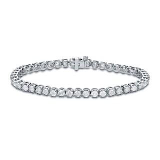 Auriya 14k Gold 6ct TDW Round Diamond Tennis Bracelet (H-I, SI1-SI2)
