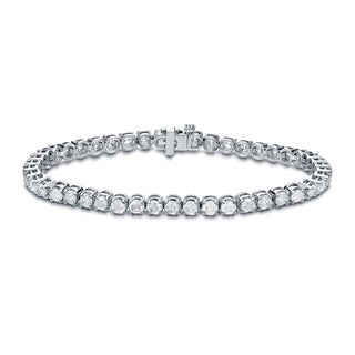 Auriya 14k Gold 6ct TDW Round Diamond Tennis Bracelet