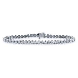 Auriya 14k Gold 3ct TDW Round Cut Diamond Tennis Bracelet (I-J, VS1-VS2)