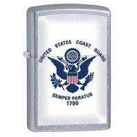 Zippo U.S. Coast Guard Street Chrome Lighter