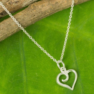 Handmade Sterling Silver 'Love Promise' Necklace (Thailand)
