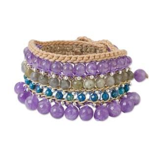 Handmade Multi-gemstone 'Sukhothai Chic' Bracelet (Thailand)