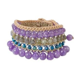 Handcrafted Multi-gemstone 'Sukhothai Chic' Bracelet (Thailand)