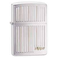 Zippo Zippo And Lines Brushed Chrome Windproof Lighter