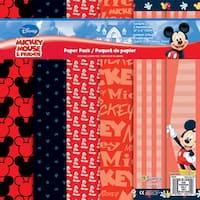 Disney Paper Pack 12inX12in 12 SheetsMickey