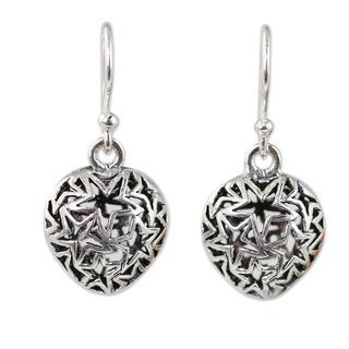 Handcrafted Sterling Silver 'Superstar' Earrings (Thailand)