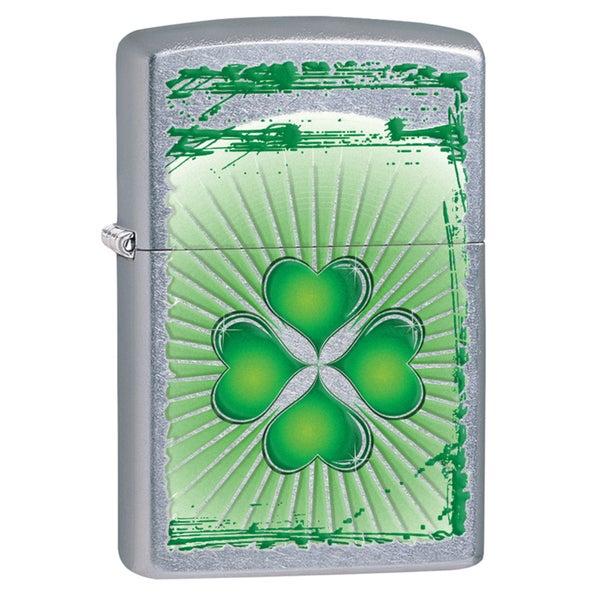 Zippo Clover Grunge Street Chrome Windproof Lighter