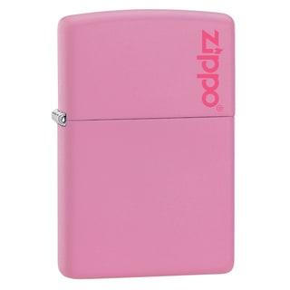 Zippo Pink Matte Lighter Zippo Logo
