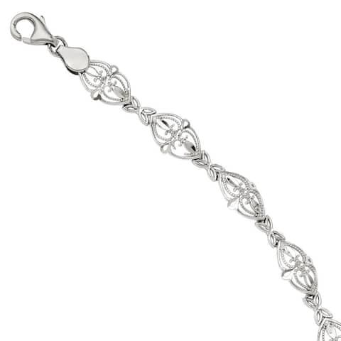 Versil 14 Karat White Gold Bracelet