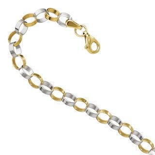 Versil 14k Two-tone Gold Polished Bracelet