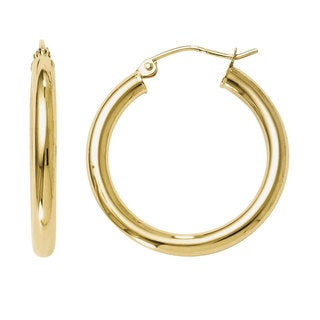 Versil 14k Gold Polished Hoop Earrings