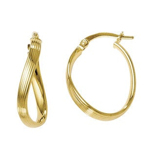 Versil 14k Yellow Gold Polished Hoop Earrings